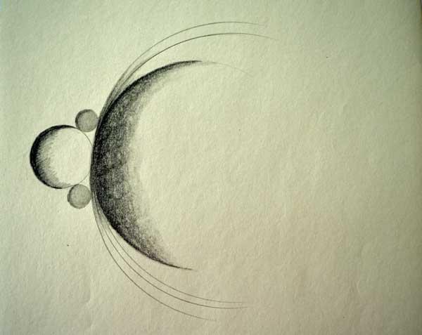 """© Kathleen O'Brien, """"Circles"""", , drawing, 1971"""