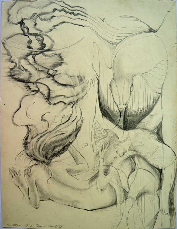 Group drawing, 1972