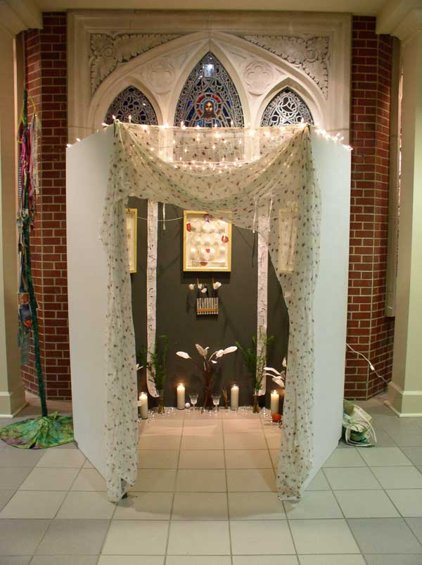 """© Kathleen O'Brien, """"Home of the Ancestors"""" installed at the Cathedral, 2006"""