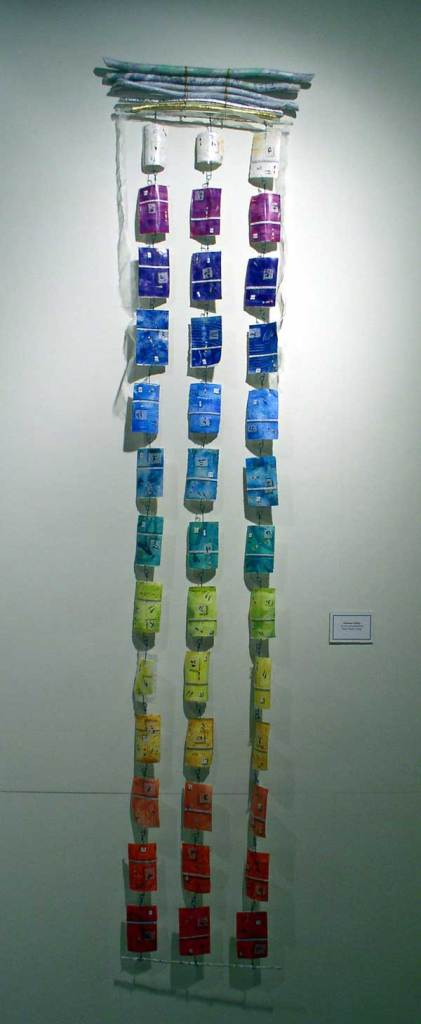 """© Kathleen O'Brien, """"Records of a Realized Being"""", watercolor, drawing, collage, installed at Morlan Gallery, 2007"""