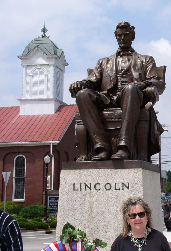 Lincoln Statue in Hodgenville KY at Lincoln Bi-Centennial, 2008