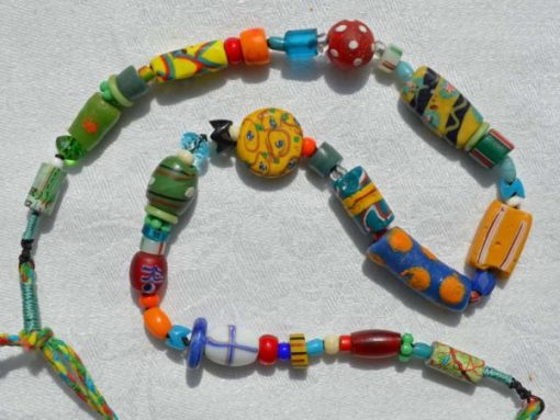 Healing Necklace 11, antique bead necklace © Kathleen O'Brien