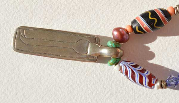 Healing Necklace 13, detail, antique bead necklace © Kathleen O'Brien
