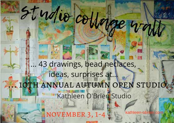 Studio Collage Wall image for 10th Annual Open Studio