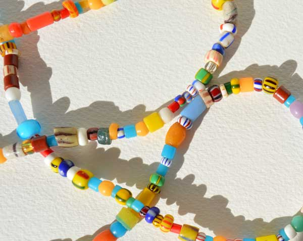 Talisman for Joy, 5 detail,antique bead necklace © Kathleen O'Brien-op