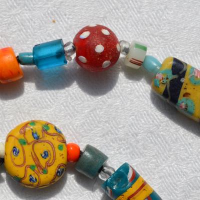 Venetian Autumn antique bead necklace, detail © Kathleen O'Brien
