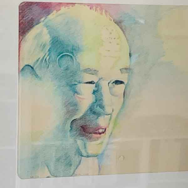 ©Kathleen O'Brien, Colored pencil drawing of Henry Miller, 1979