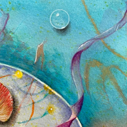 Dear Azure Tit, detail, ©Kathleen O'Brien