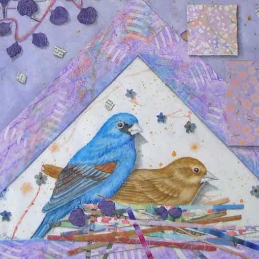 """©Kathleen O'Brien, """"Garden for Blue Grossbeaks"""", detail"""