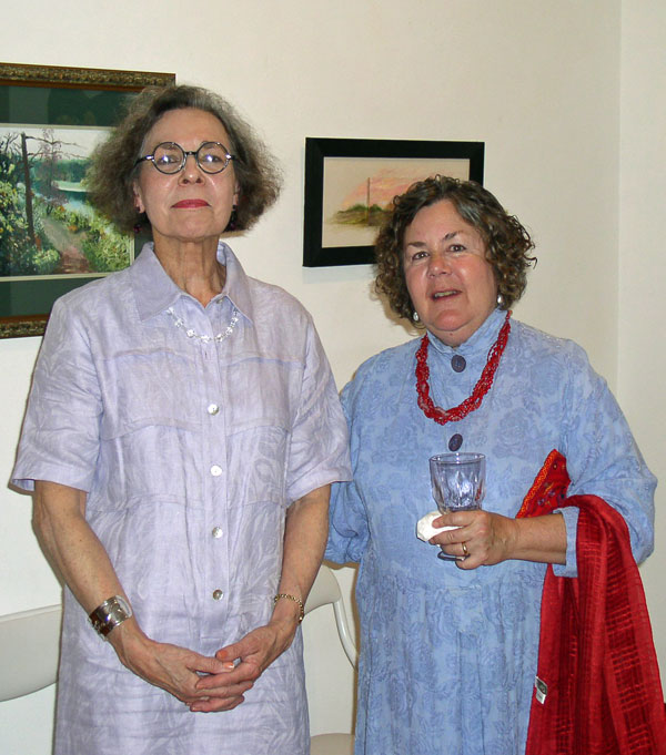 Lena Feiner and KO'B at 5th Anniversary in Poetics Exhibit 2006