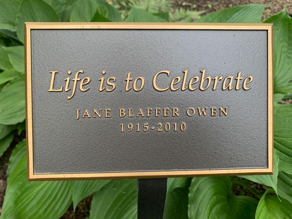 YES, Jane Blaffer Owen