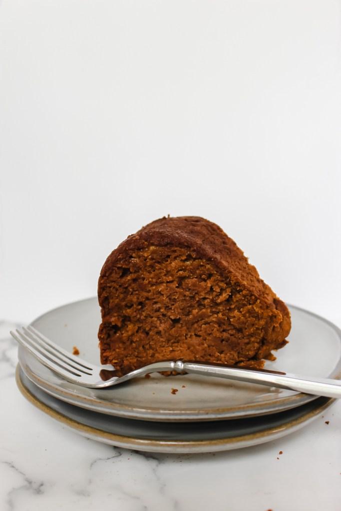 pumpkin banana bundt cake