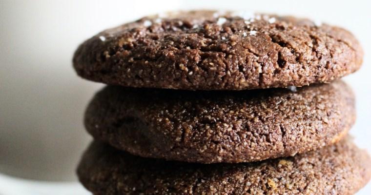 Chewy Brownie Crinkle Cookies