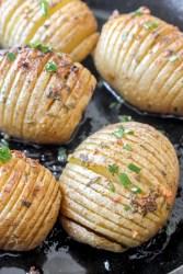 hasselback potato skillet