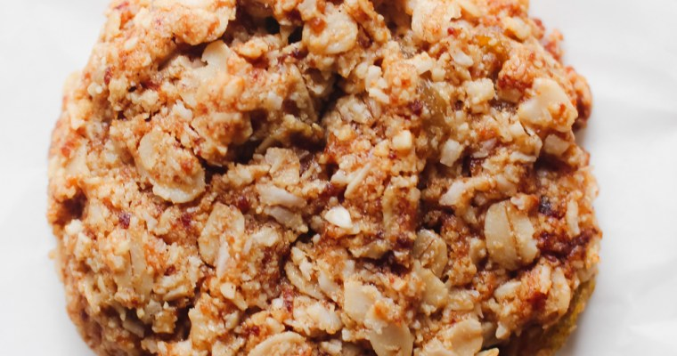 Oatmeal Raisin Breakfast Cookies (Gluten Free, Dairy Free, Refined Sugar Free)