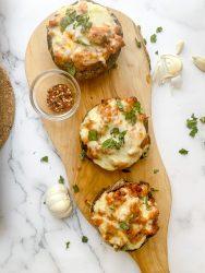 portabello mushroom pizzas