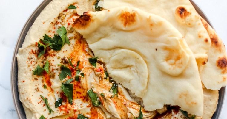 The Silkiest Blender Hummus Dip (Gluten Free, Vegan)