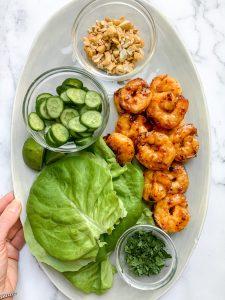 Spicy Sambal Shrimp Lettuce Cups