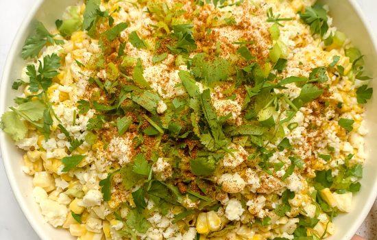 Mexican Street Corn Salad (Esquites) – (Gluten Free, Vegetarian)
