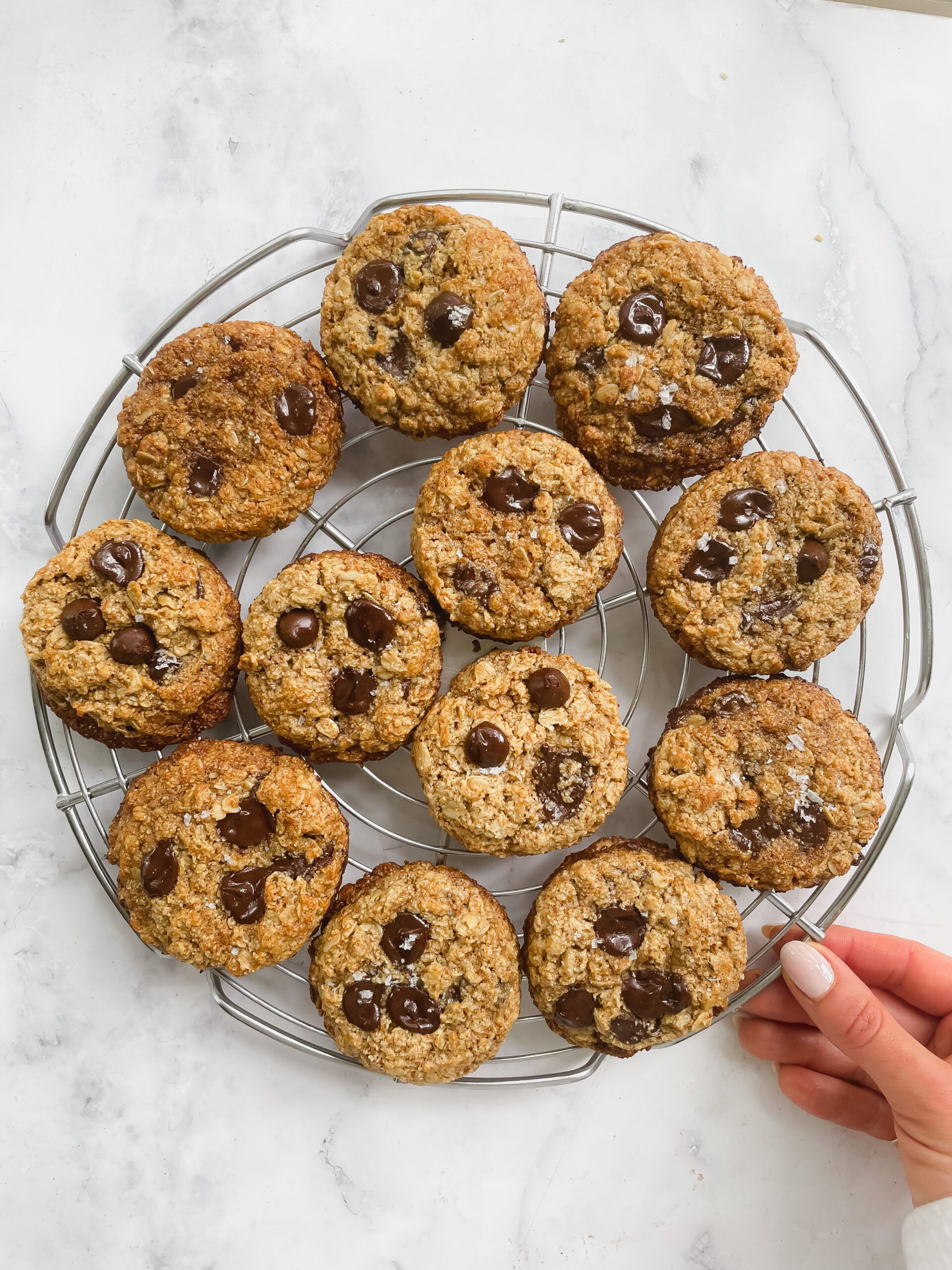 Chewy Pumpkin Chocolate Chip Oatmeal Cookies (Gluten Free, Dairy Free, Refined Sugar Free)