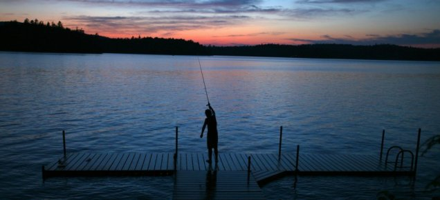 Sunset Fishing on Tupper Lake