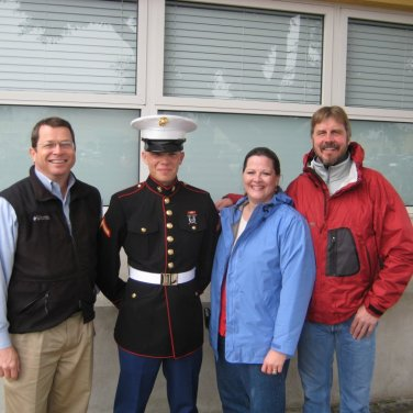 Ron, Uncle Bob & I went to Boot Camp Graduation February 2008