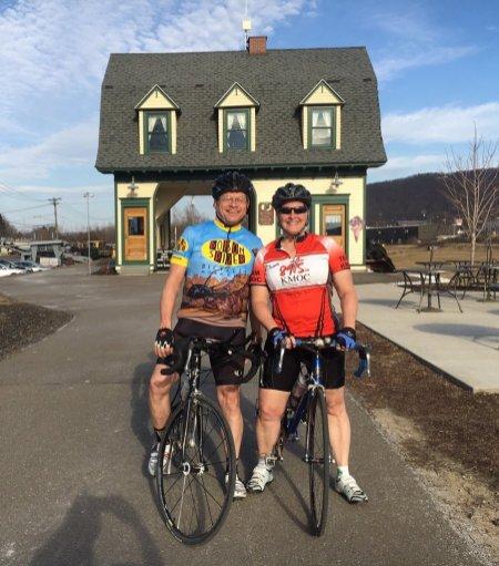 Riding in Vestal, NY. March 2016.