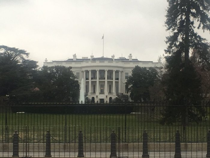 Our hotel was a block from the White House