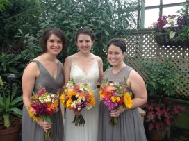 Natalie's wedding - loved her freshly picked bouquets from a friend's farm in Michigan