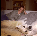Lola, happy I'm home