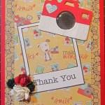 Thank you Card using Balsa Wood Camera