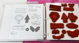 Rubber stamp storage case