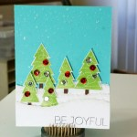 """Be Joyful"" II – Handmade Christmas Card"