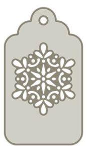 Snowflake tag die cut file