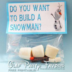Build an Olaf Snowman from Disney's Frozen
