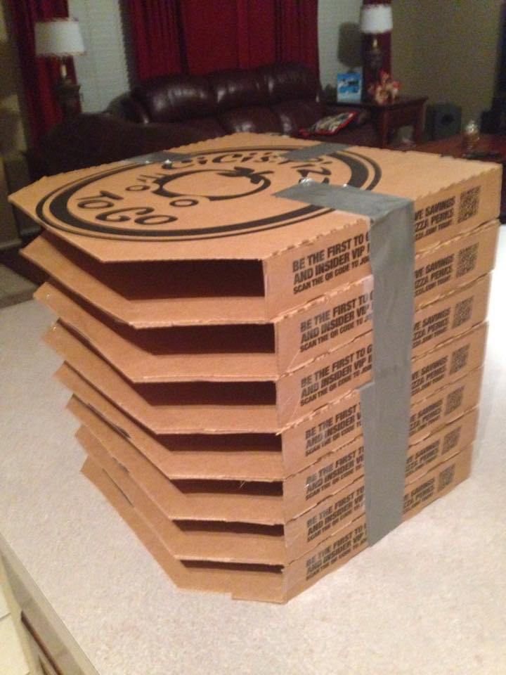 Pizza Box Paper Storage 22a