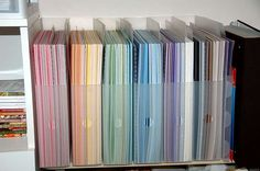 Scrapbooking: Vertical 12x12 Paper Storage Solutions