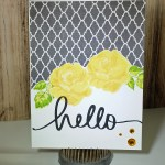 Hello – A Pocket Card – Handmade Greeting Card