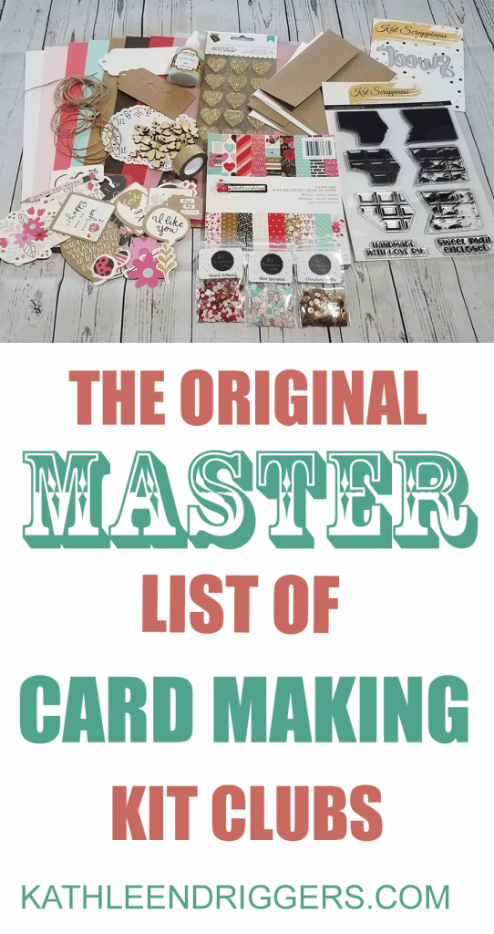 Original Master List of Card Making Kit Clubs