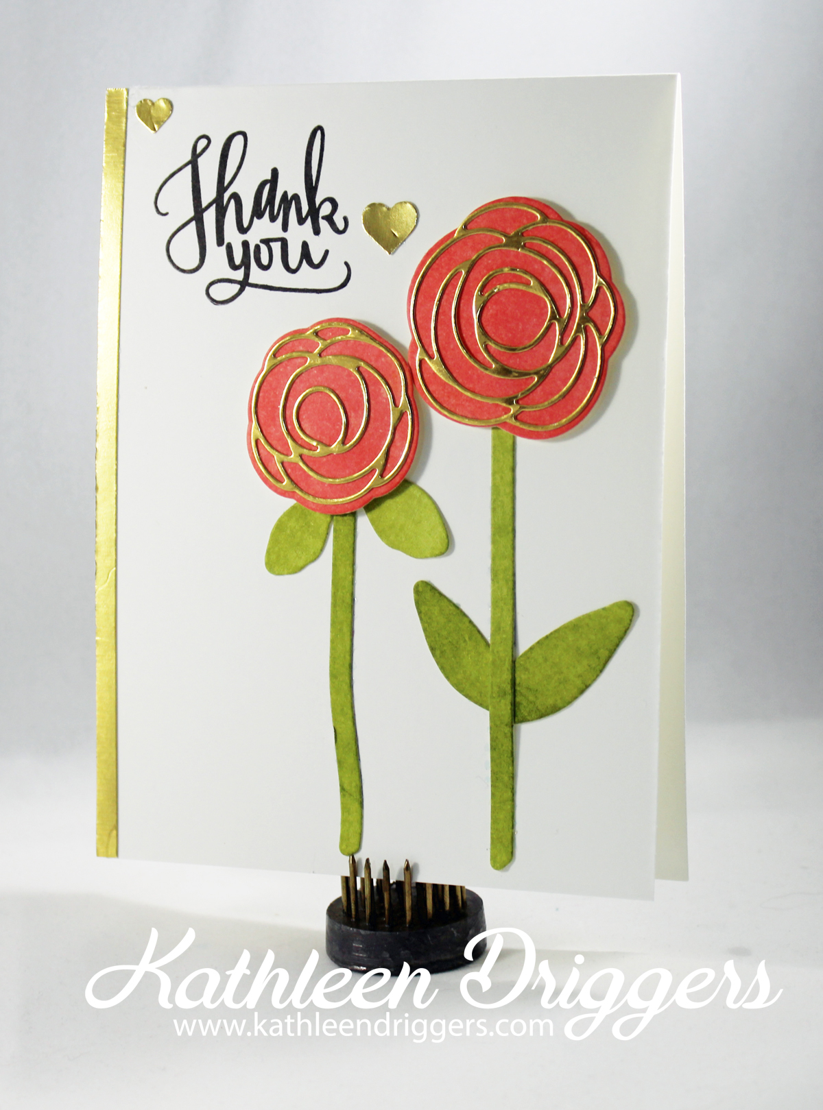 Inked Die Cut Thank You Card Kats Adventures In Paper Crafting