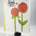 Inked & Die Cut Thank You Card