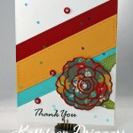 Cheerful Die Cut Thank You Card