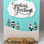Winter Scene Christmas Card Featuring My Favorite Things' Tree Line Die