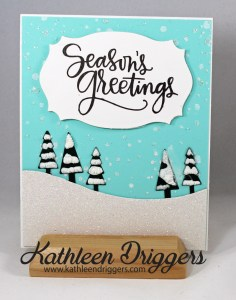 Winter Scene xmas card