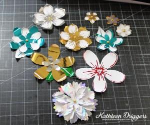 Kat's Minc Foiled Flowers