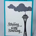 Sending You A Little Something from Rainy Washington – Handmade Card
