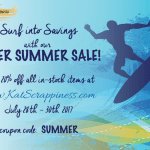 Crafty Sale at Kat Scrappiness.com!
