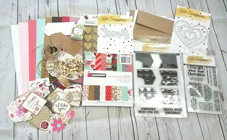 I love Chocolate Card Kit by Kat Scrappiness