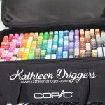 (2) Copic Carrying Bags with Wooden Inserts For Sale