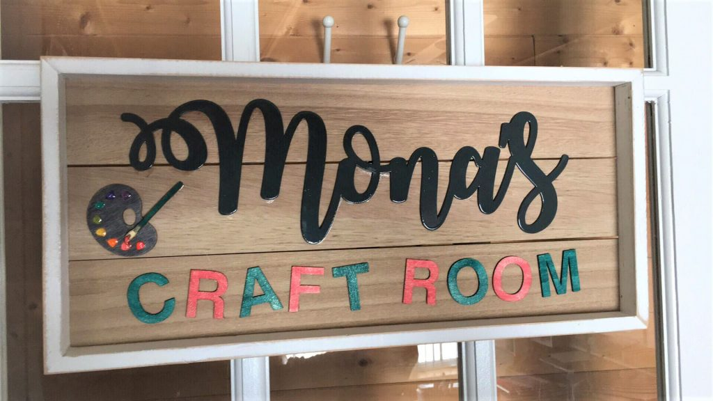 Handmade Craft Room Sign